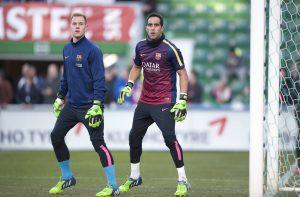 Claudio Bravo und Marc-Andre ter Stegen im Training beim FC Barcelona